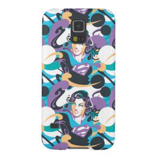 Supergirl Color Splash Swirls Pattern 5 Galaxy S5 Cover
