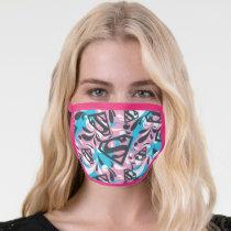 Supergirl Color Splash Swirls Pattern 6 Face Mask