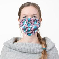 Supergirl Color Splash Swirls Pattern 7 Adult Cloth Face Mask