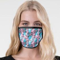 Supergirl Color Splash Swirls Pattern 7 Face Mask