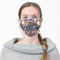 Supergirl Color Splash Swirls Pattern 8 Adult Cloth Face Mask