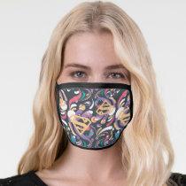 Supergirl Color Splash Swirls Pattern 8 Face Mask