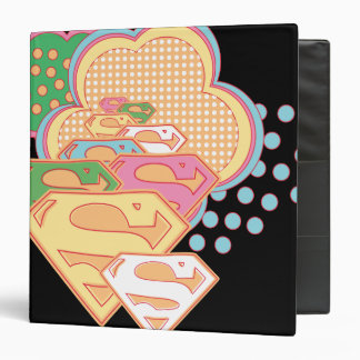 Supergirl Colorful Cloud Logo Vinyl Binders