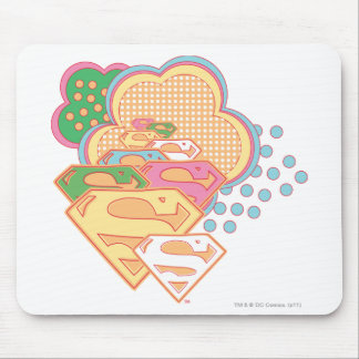 Supergirl Colorful Cloud Logo Mouse Pad