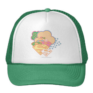 Supergirl Colorful Cloud Logo Trucker Hat