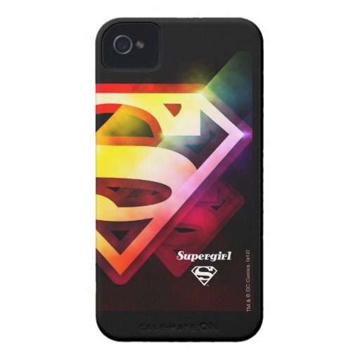 Supergirl Colorful Logo Case-Mate iPhone 4 Cases