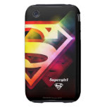 Supergirl Colorful Logo iPhone 3 Tough Covers