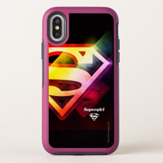 Supergirl Colorful Logo OtterBox Symmetry iPhone X Case