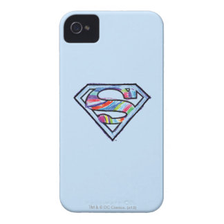 Supergirl Colorful Sketch Logo Case-Mate iPhone 4 Case