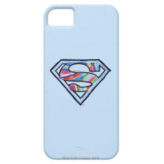 Supergirl Colorful Sketch Logo iPhone SE/5/5s Case