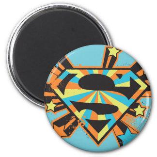 Supergirl Colorful Stars Logo Fridge Magnets