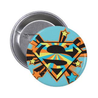Supergirl Colorful Stars Logo Pinback Button