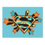 Supergirl Colorful Stars Logo Postcard