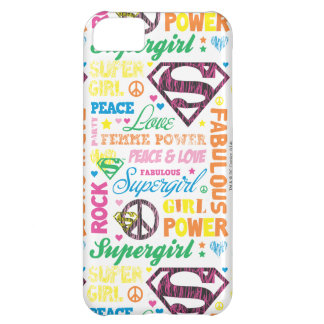 Supergirl Colorful Text Collage iPhone 5C Cases