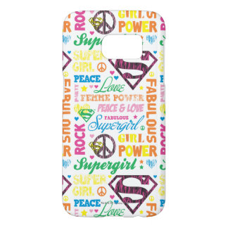 Supergirl Colorful Text Collage Samsung Galaxy S7 Case