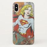 Supergirl Comic Capers 2 iPhone X Case