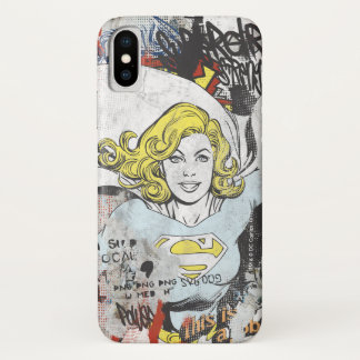 Supergirl Comic Capers 3 iPhone X Case