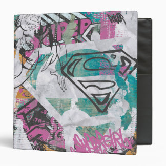 Supergirl Comic Capers Pattern 11 3 Ring Binder