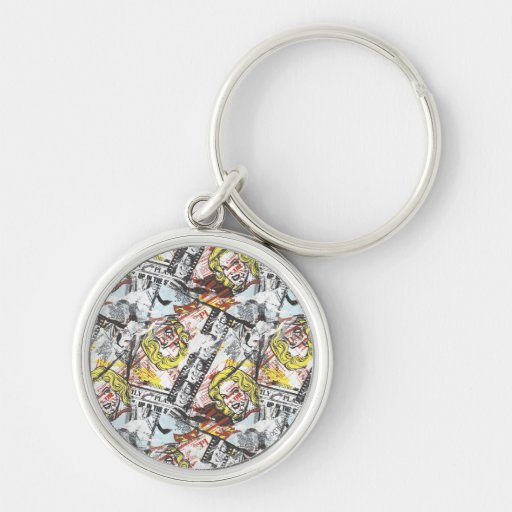 Supergirl Comic Capers Pattern 2 Key Chain
