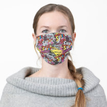 Supergirl Comic Capers Pattern 4 Adult Cloth Face Mask