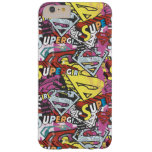 Supergirl Comic Capers Pattern 4 Barely There iPhone 6 Plus Case