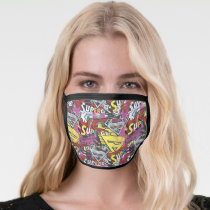 Supergirl Comic Capers Pattern 4 Face Mask