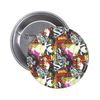 Supergirl Comic Capers Pattern 7 Pinback Button