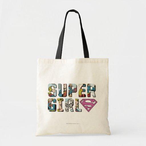 Supergirl Comic Logo Canvas Bags