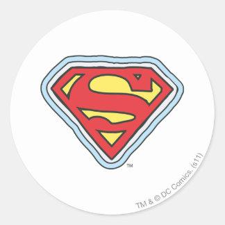 Supergirl Comic Logo Classic Round Sticker