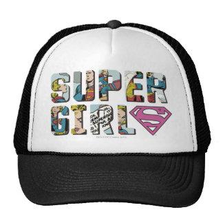 Supergirl Comic Logo Trucker Hats