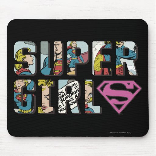 Supergirl Comic Logo Mouse Pad