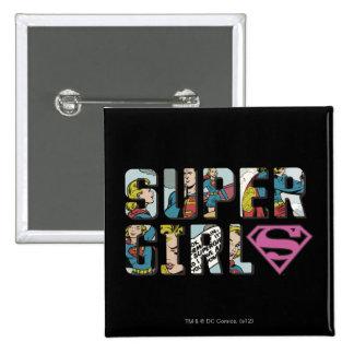 Supergirl Comic Logo Pinback Button
