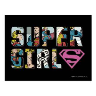 Supergirl Comic Logo Postcard