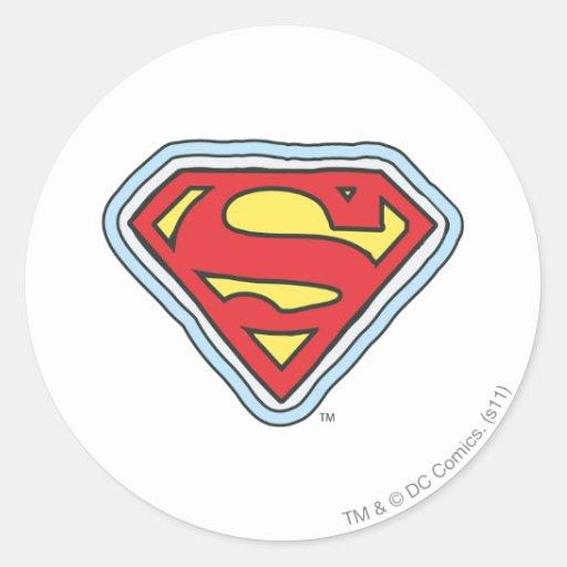 Supergirl Comic Logo Round Stickers
