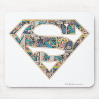 Supergirl Comic Strip Logo Mouse Pad