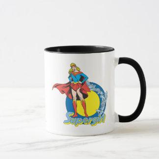 Supergirl con el logotipo taza