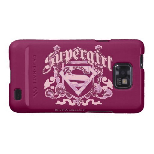 Supergirl Crest Design Galaxy S2 Cover
