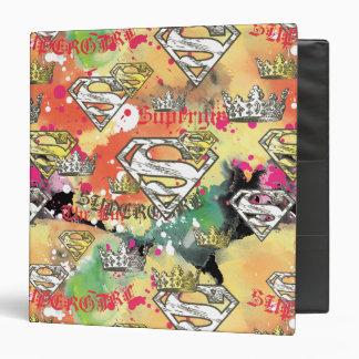 Supergirl Crown Pattern 3 Ring Binder