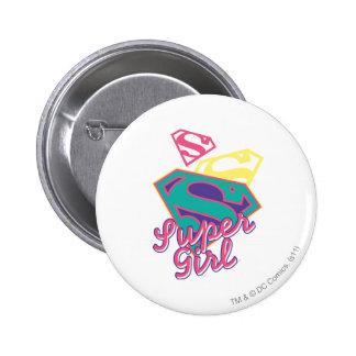 Supergirl Cursive Buttons