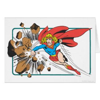 Supergirl Destroys Boulder Card