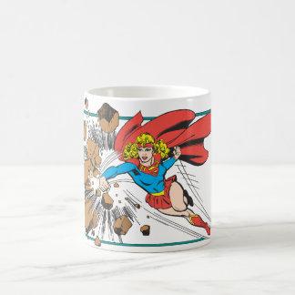 Supergirl Destroys Boulder Classic White Coffee Mug