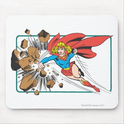 Supergirl Destroys Boulder Mouse Pad