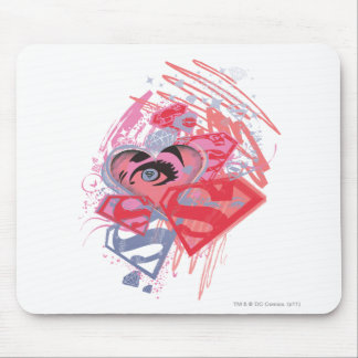 Supergirl Diamonds and Lips Mouse Pad