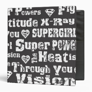 Supergirl Distressed Text 3 Ring Binder