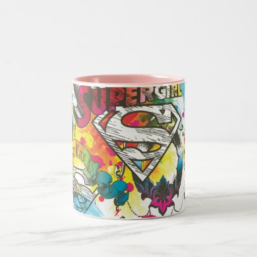 Supergirl el modelo del lux taza de dos tonos