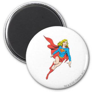 Supergirl en el movimiento imán redondo 5 cm