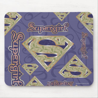Supergirl Fancy Logo Collage Mouse Pad