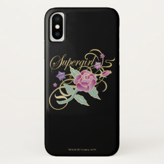 Supergirl Fancy Roses iPhone X Case