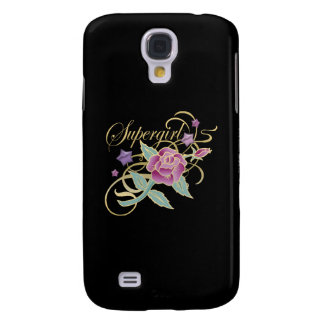 Supergirl Fancy Roses Samsung Galaxy S4 Cover