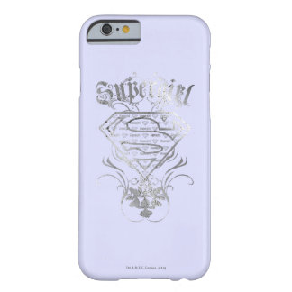 Supergirl Fancy Silver Logo Barely There iPhone 6 Case